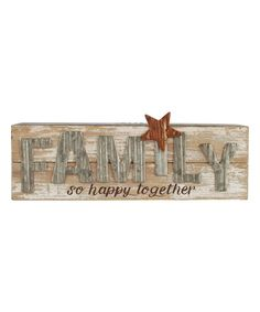 'So Happy Together' Wood Wall Sign #zulily #zulilyfinds