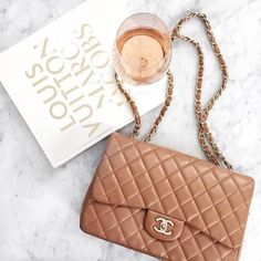tan chanel bag, Chanel bags and shoes collection http://www.justtrendygirls.com/chanel-bags-and-shoes-collection/