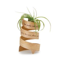 Look what I found at UncommonGoods: inspiration bent wood planter... for $62 #uncommongoods