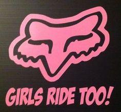 Dirt Modified Girls pink | Motocross-Dirt-Bike-ATV-Racing-Girls-Ride-Too-Vinyl-Decal-Sticker-Soft ...