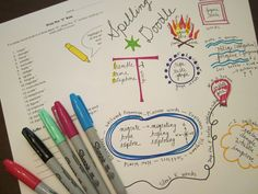Upper elementary spelling activity from The Room Mom--Spelling Doodles! I could see this working with my 4th and 5th grade students!