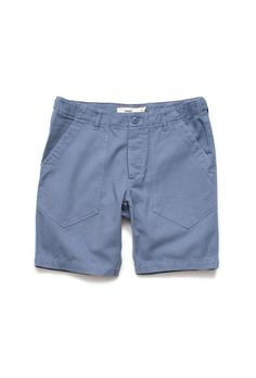 WITTMORE - Creep Stone Blue Cotton Trail Shorts - http://shopwittmore.com/collections/creep-by-hiroshi-awai/products/creep-cotton-gray-blue-trail-shorts