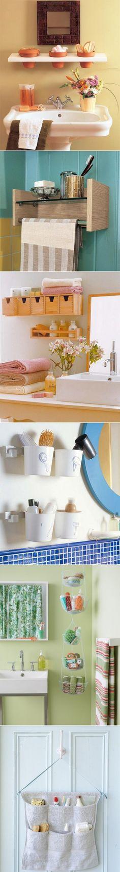 DIY Small Bathroom storage ideas