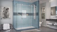 DreamLine Enigma-X 68 in. to 72 in. x 76 in. Frameless Sliding Shower Door in Polished Stainless Steel DreamLine Enigma-X 68 in. to 72 in. x 76 in. Frameless Sliding Shower Door in Polished Stainless - The Home Depot Bathroom Layout, Bathroom Interior Design, Small Bathroom, Master Bathroom, Bathroom Ideas, Bathroom Remodeling, Frameless Sliding Shower Doors, Frameless Shower Enclosures, Design Moderne