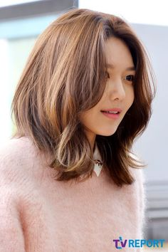 Sooyoung Girls' Generation short haircut undertake it, youve probably heard virtually the haircut trend featuring none additional than the accepted Korean rushe Medium Hair Cuts, Short Hair Cuts, Medium Hair Styles, Long Hair Styles, Korean Hair Medium, My Hairstyle, Easy Hairstyles, Korean Hairstyles Women, Hair Inspo