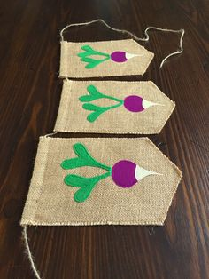 Radish Bunting Banner//Farmer's Market or Supermarket Birthday Party//Peter Rabbit Birthday or Baby Shower//Photography Prop//asher + blaine by asherblaine on Etsy https://www.etsy.com/listing/239160381/radish-bunting-bannerfarmers-market-or