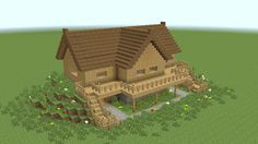 MINECRAFT: How to build wooden mansion