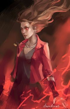 Scarlet Witch | the art of doro: http://dorodraws.tumblr.com/
