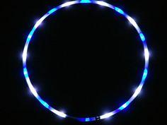 LED Hula Hoop Polypro HDPE Diamond Eyes by TheHoopSmiths