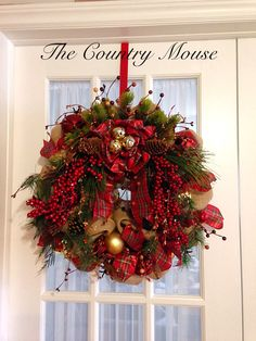Christmas wreath by Country Mouse Christmas Wreaths, Crafting, Country, Holiday Decor, Home Decor, Christmas Garlands, Homemade Home Decor, Holiday Burlap Wreath, Rural Area