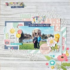 Layout from creative team member Stacy Koo with the Faith collection