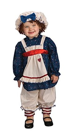 Kelly: This is Miss Hannah's 1st Halloween and she is going as a RAGGEDY ANN DOLL.