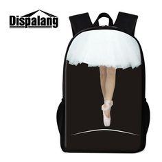 Dispalang Brand Student School Backpack Bag Violin Music Prints 16-inch Children School Bag Women Book Bag Tourism Bag Bagpack To Suit The PeopleS Convenience Men's Bags