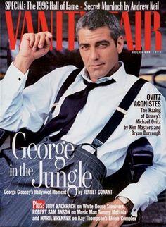 December 1996 | George Clooney. Photograph by Annie Leibovitz.