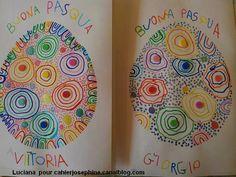 Activités : graphisme - maternelle Ponts endroits, spirales, cercles, voire plus.. Easter Arts And Crafts, Egg Crafts, Spring Crafts, Diy Ostern, Easter Activities, Egg Art, Toddler Crafts, Preschool Crafts, Art For Kids