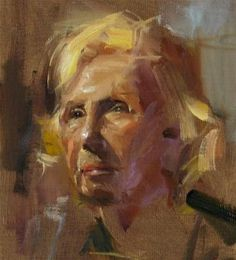 """Portrait study"" - Original Fine Art for Sale - © Qiang Huang"