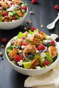 Healthy Lunch Ideas for Work - Blueberry Goat Cheese Chicken Salad With Peanut Dijon Dressing - Quick and Easy Recipes You Can Pack for Lunches at the Office - Lowfat and Simple Ideas for Eating on the Job - Microwave, No Heat, Mason Jar Salads, Sandwiches, Wraps, Soups and Bowls http://diyjoy.com/healthy-lunch-ideas-work
