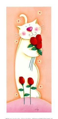 Rose kitty ~ Jo Parry Art ❤️☀️
