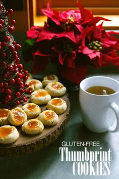 Gluten-free Jam Thumbprint Cookies - With Style & Grace