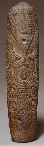 Carved monolith (atal) Bakor, Ekoi (Ejagham), Cross River, Nigeria, 16th century (?) basaltic stone, h. 84 cm Private Collection, London