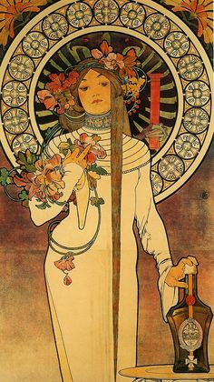 Art Nouveau French Art Movement| Serafini Amelia| labellefilleart: The Trappistine, Alphonse Maria Mucha