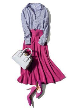 春服の本格稼働は少し先でも、気軽に買えるプチプラ服でほんのり春めきたい♪ 人気のユニクロ&GUで使える新作をピックアップした、一週間着回しコーデを公開します♡(モデル:泉里香さん)