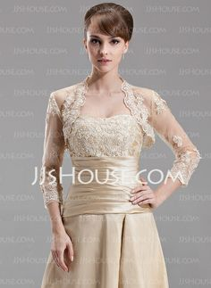Wraps - $44.99 - 3/4-Length Sleeve Tulle Special Occasion Wrap (013004179) http://jjshouse.com/3-4-Length-Sleeve-Tulle-Special-Occasion-Wrap-013004179-g4179