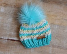 Excited to share this item from my #etsy shop: Newborn Toque, Knit Baby Hat, Gender Neutral Baby Gift, Baby Hat, Newborn Gift, Baby Hat with Fur Pom Pom, Baby Hats Knitting, Knitted Hats, Newborn Gifts, Baby Gifts, Gender Neutral Baby, Crochet Patterns For Beginners, Fur Pom Pom, Craft Stick Crafts, Crochet Baby