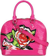 Pink Flower Fashion Tote bag With Long Strap