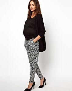 Mamalicious Printed Jersey Pants