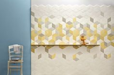 In interior design, tiles are one of the most frequently used finishing materials. Designers can flexibly apply tiles of different styles and materials to decor Wall And Floor Tiles, Wall Tiles, Rhombus Tile, Rhombus Shape, Geometric Tiles, Hexagon Tiles, Geometric Designs, Tile Covers, Handmade Tiles