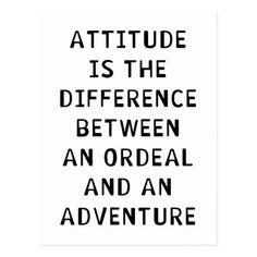 Attitude Difference Postcard | Zazzle.com