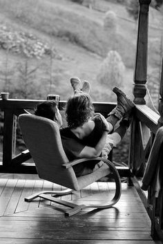 Just sitting on the porch together, in that warm glow of feeling close, being in love with each other and the world.