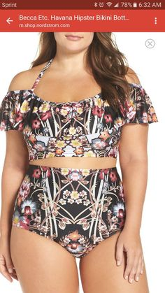 Plus Size Women's Becca Etc. Havana Swim Crop Top Don't think you're a beautiful plus size woman? skinny-doesnt-always-mean-healthy-just-like-plus-size-doesnt-mean-unhealthy slimmingbodyshapers Women's Plus Size Swimwear, Trendy Swimwear, Plus Size Bikini, Look Plus Size, Plus Size Women, Style Outfits, Cute Outfits, Curvy Fashion, Plus Size Fashion