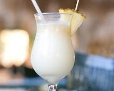 Skinny Adult Beverages like this piña colada + a light Bloody Mary, a skinny sangria &