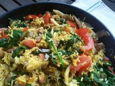 Reispfanne mit Bohnen vegan und glutenfrei