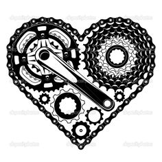 ciklus része szív alakú - Stock Illustration: 40318843