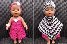 Kleren voor Baby Bron pop (met link naar gratis patronen) / clothes for Baby Bron doll (with link fo free patterns) Knitting Dolls Clothes, Baby Doll Clothes, Barbie Clothes, Baby Dolls, Crochet Dolls, Crochet Baby, Knit Crochet, Doll Patterns, Crochet Patterns