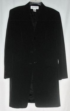 Jones New York Long Black Jacket Size 8 Ships Free in the USA