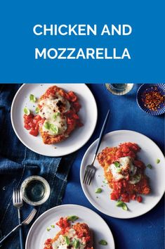 Chicken and Mozzarella Wine Recipes, Cooking Recipes, Healthy Recipes, Real Simple Recipes, Chicken Cutlets, Breaded Chicken, Crispy Chicken, Potato Dishes, Special Recipes