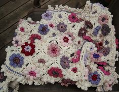 Ravelry: Afghaniac's Orchid and Lilac Blankie