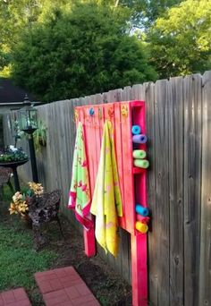 Hang The Towels And Store The Pool Noodles