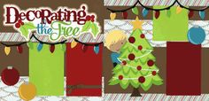 Decorating The Tree-Boy Page Kit