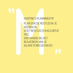 Note with content: Martine's planningstip Plan ook…