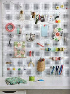 Here's a great way to organize your craft space! /BR @uncovet.com c/o heather lipner