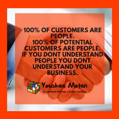 of all customers are people. of all potential and prospective customers are people too. If you dont understand people using the human element and seeing to their needs you dont understand your business and your business will suffer due to it. Startup Entrepreneur, Entrepreneurship, Competitor Analysis, Dont Understand, Understanding Yourself, Purpose, Social Media, Goals, Teaching
