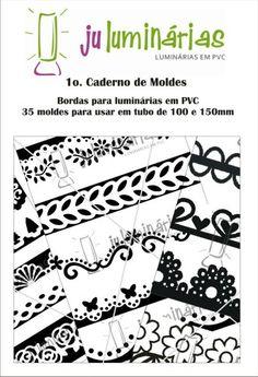 1 Caderno de Moldes - Bordas para luminária em PVC