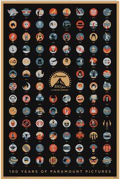 100 Years of Paramount Pictures (via Cinemablend) Apenas puedo identificar un puñado de películas