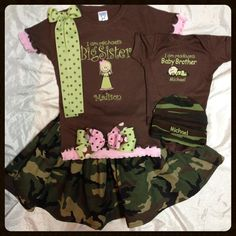 BIG SISTER Little brother Short Sleeve by myembroideryboutique Sibling Pics, Sibling Shirts, Siblings, Brother Sister Poses, Big Sisters, Baby Outfits, Future Baby, Baby Boys, Grandkids