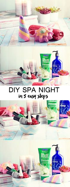 5 Easy Steps to a DIY Spa Night! Get you relaxation on and relieve your stress!